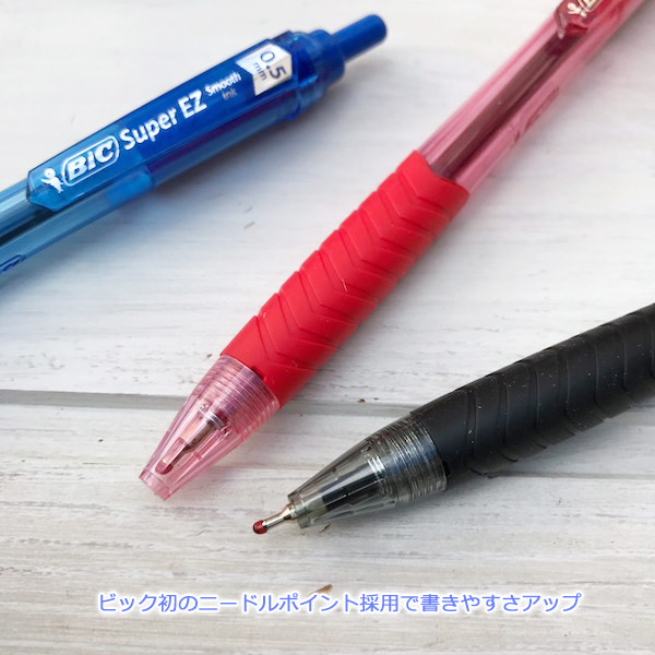 BIC super smooth ink with smooth ball-point pen Super EZ knock type ball point pen