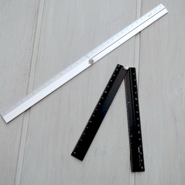 MIDORI and the degree measure two folding multi ruler aluminium ruler 30 cm