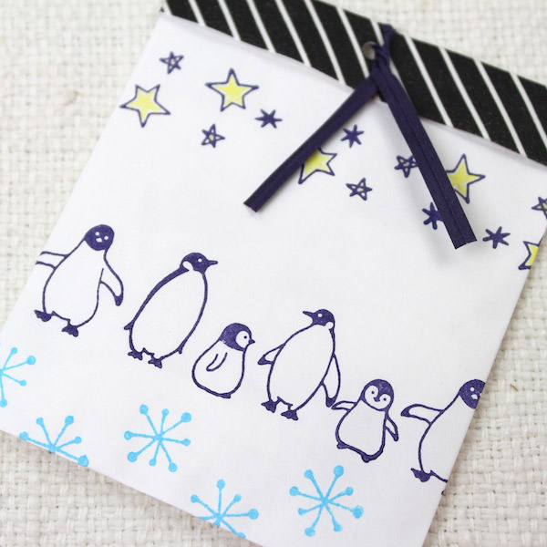 """面对孩子 (地热不高) 和它的作品当 Pal 戳设置""""企鹅""""卡片和笔记邮票集"""
