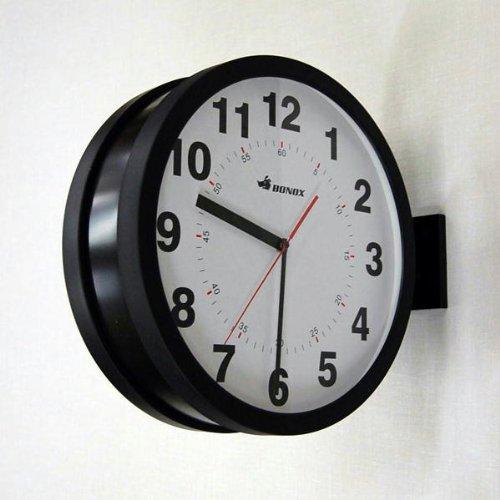 ダルトン ダブルフェイス クロック ブラック 両面時計 壁設置 ウォールクロック 壁掛け時計 【 DULTON DOUBLE FACES WALL CLOCK BK S82429BK 】