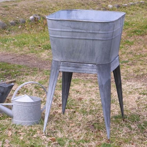 STAND TUB ANTIQUE GALVANIZED ★ B650-817AGV / 4997337785976 / ダルトン