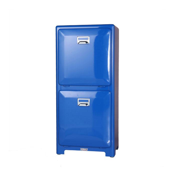 ダルトン トラッシュカン ダブルデッカー ブルー 分別 ゴミ箱 ダストボックス インナーボックス おしゃれ シンプル キッチン 【 DULTON TRASH CAN DOUBLE DECKER BLUE 100-133BL 】