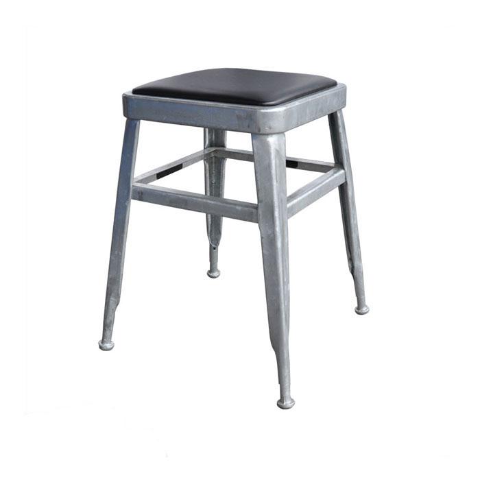 ダルトン ライト スツール ガルバナイズド スツール (背もたれなし) スチールスツール 金属 おしゃれ ユニーク 個性的 イス 椅子 【 DULTON LIGHT-45 STOOL H.D.GALVANIZED 113-300GV 】
