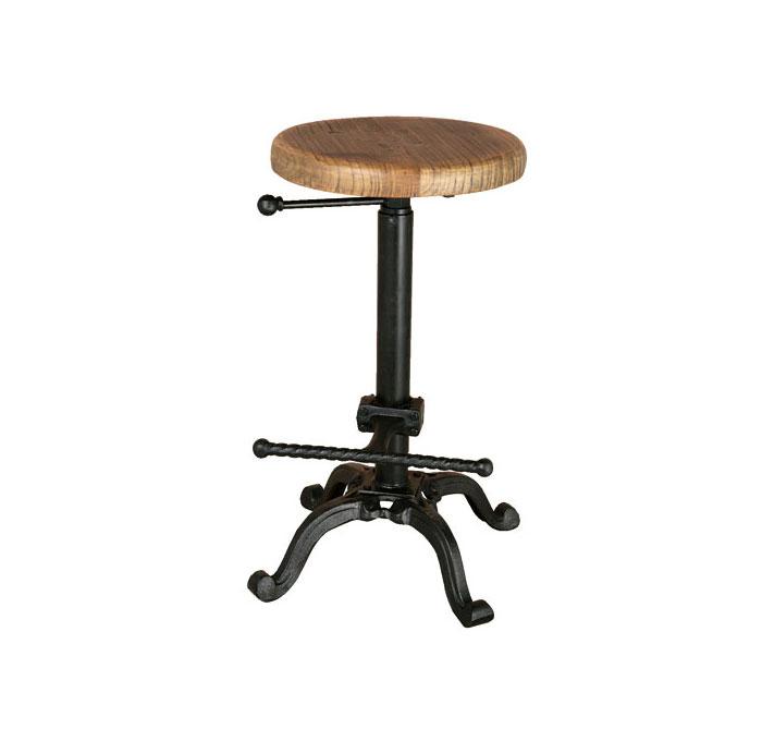 ダルトン バースツール アンティークブラック スツール (背もたれなし) ウッドスツール アイアンスツール 木製座面 金属 シンプル おしゃれ ウッド アイアン イス 椅子 【 DULTON BAR STOOL ANTIQUE BLACK S245-86ABK 】