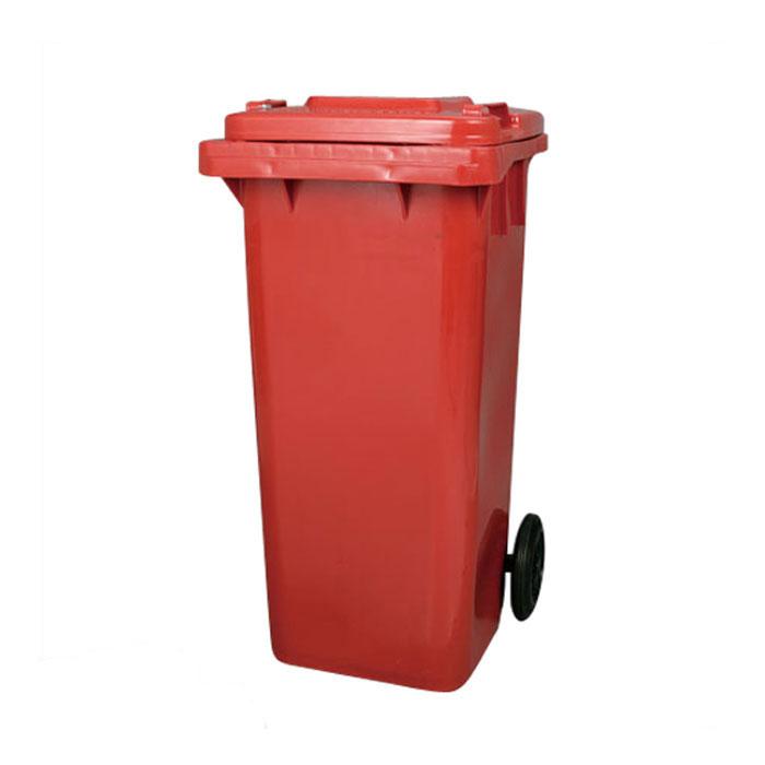 ダルトン プラスチック トラッシュカン 120リットル レッド ゴミ箱 ダストボックス ふた付 キャスター付 おしゃれ シンプル キッチン 【 DULTON PLASTIC TRASH CAN 120L RED PT120RD 】