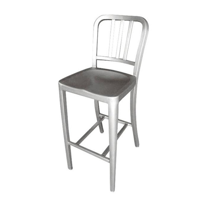 ダルトン アルミ バー スツール バーチェア シンプル バースツール 背もたれ 有り アルミ製 アルミチェア イス 椅子 チェアー 【 DULTON ALUMINUM BAR STOOL ALC802C 】