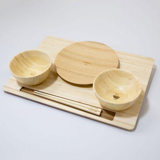 FUNFAM / FS-09-001W SAN NO ZEN / 出産祝い お食い初め ファンファン 食器セット 男の子 女の子 日本製 / 4562364812706