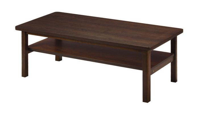 センターテーブル KVT-1260(WN) / ウォールナット / 4933178073735 弘益 / テーブル センターテーブル ローテーブル