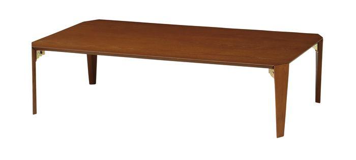ローテーブル(折脚) LT-TK1275(BR) / ブラウン / 4933178123782 弘益 / テーブル センターテーブル ローテーブル