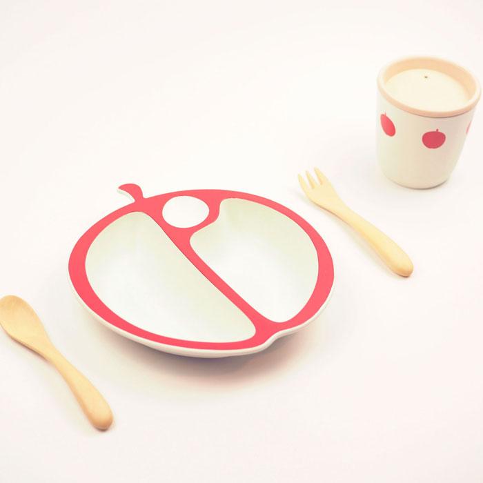 マストロ ジェッペット PAPPA MELA 早割クーポン りんご食器セット MGBPPA02 キッズ 食器セット お食事 ベビー 商品 ベビー食器