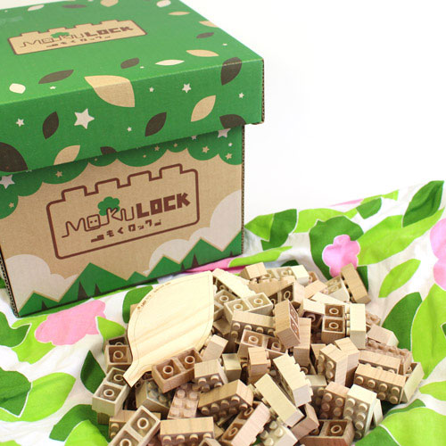 木製ブロック / もくロック 120ピース WT-MLGS120-R / ブロック おもちゃ 子ども キッズ 大人にも MOKULOCK ニューテックシンセイ / 4580368750039
