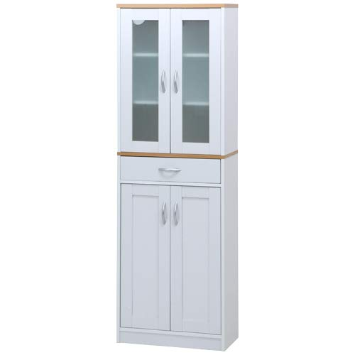 キッチンキャビネット サージュ WH×NA 60幅 収納家具 キッチン収納
