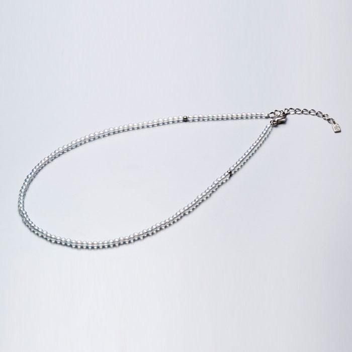 ファイテン ネックレス 【 チタン水晶ネックレス(3mm) 50cm(+5cmアジャスター) 0515AQ812053 】 phiten