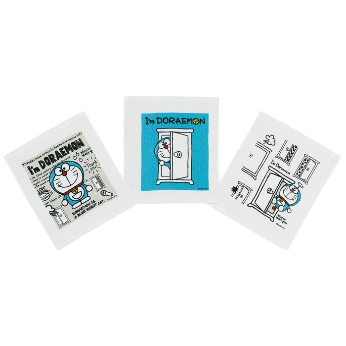 おしぼり 子供 おしぼりセット キャラクター 保障 日本製 3枚 キッズ ドラえもん OAC1T 3P おしぼりタオル I'mドラえもん
