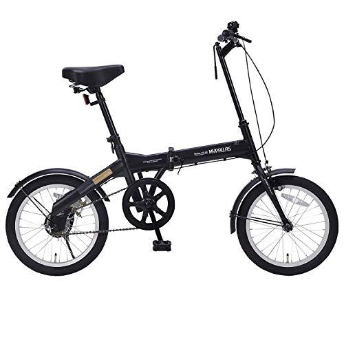 自転車 折畳16 マットブラック M-100 / 株式会社池商 4547035110022