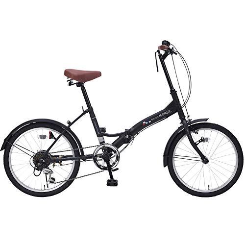 自転車 折畳20・6SP マットブラック M-205 / 株式会社池商 4547035120526