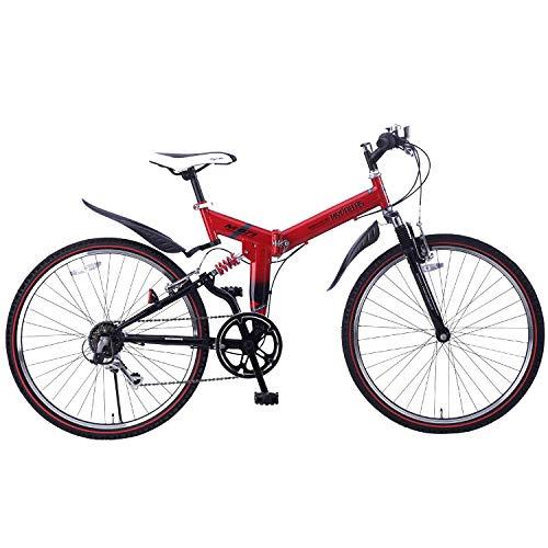 自転車 折畳ATB26・6SP・Wサス レッド M-671RE / 株式会社池商 4547035167132