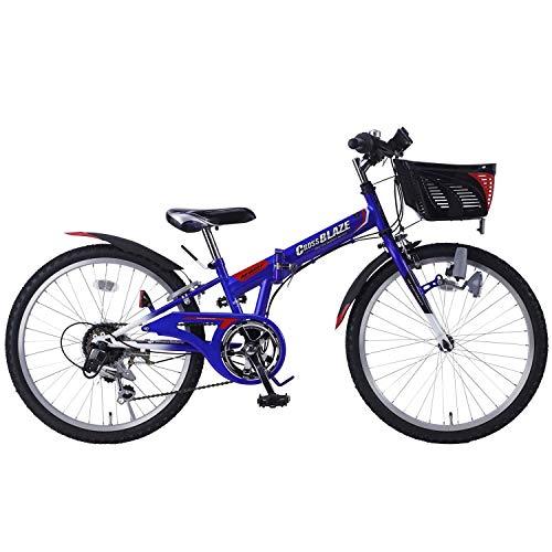 自転車 折畳ジュニアMTB24・6SP・CIデッキ付 ブルー M-824F / 株式会社池商 4547035182456