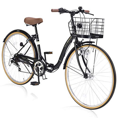 自転車 シティサイクル26・6SP・オートライト/折畳式 ブラック M-509 / 株式会社池商 4547035150929