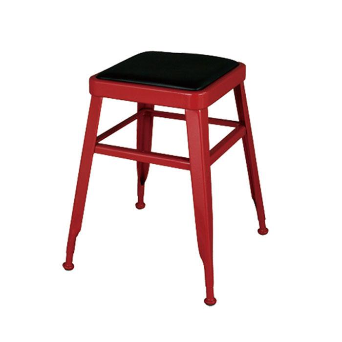 ダルトン ライト スツール レッド スツール (背もたれなし) スチールスツール 金属 おしゃれ ユニーク 個性的 イス 椅子 【 DULTON LIGHT-45 STOOL RED 113-300RD 】