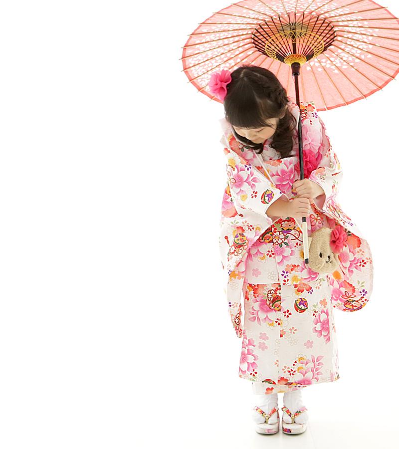 Shichigosan kimono Shichi 被布 set 被布 set 3-year-old for kids girls children wearing festive kimono juban Sandals set