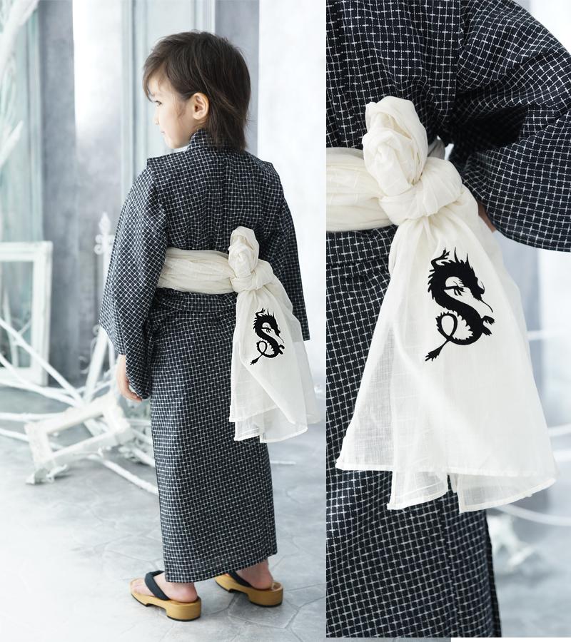 Heko boys (wove) yukata belt India-made fabrics