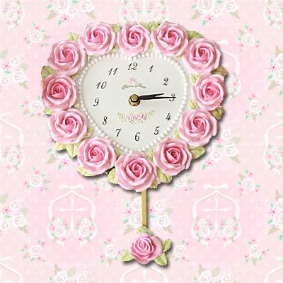 Wall Clock Pendulum Clock Rose Rose Princess Birthday Gifts Kids Room Girls  Room Christmas Celebration Gift Gift Gift