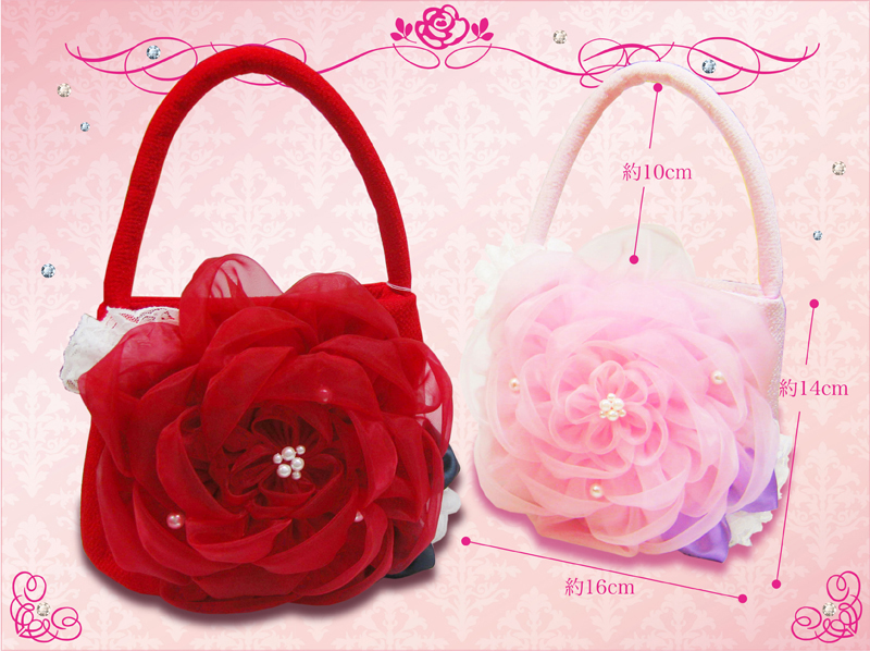 """To a Seven-Five-Three Festival drawstring purse bag """"bag wedding ceremony celebration present gift of the flower"""""""