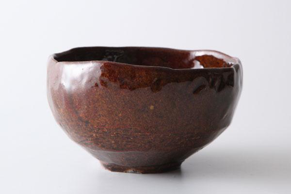 川尻潤作 飴釉茶碗  【送料無料】【smtb-k】【ky】【茶器】】【抹茶碗】