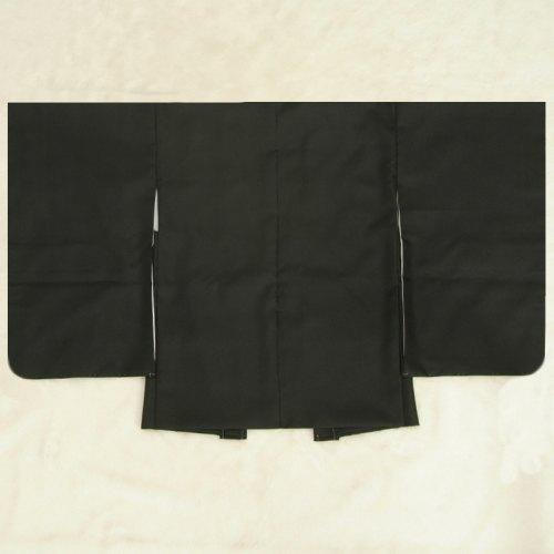 七五三男児着物 羽織単品 黒無地 5歳用 日本製