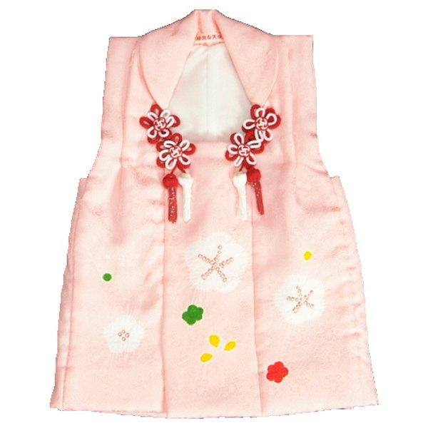 七五三 正絹被布 着物 3歳 淡ピンク 本梅手絞り 手挿し ひな祭り お正月 地紋生地 日本製