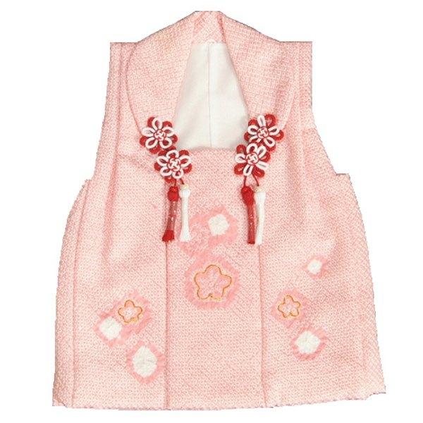 七五三 正絹被布 着物 3歳 ピンク 総本手絞り 梅華 金コマ刺繍使い ひな祭り お正月 日本製