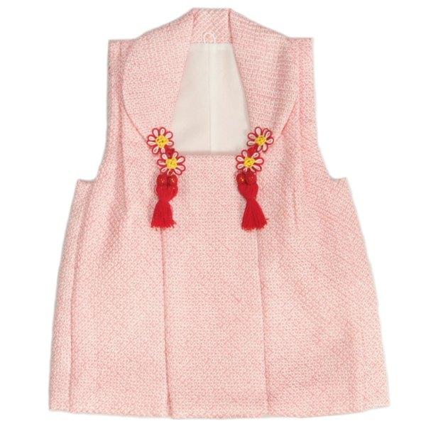 正絹被布 着物 七五三 3歳 ピンク 四つ巻総本絞り鹿の子生地 ひな祭り お正月 正絹本絞り 日本製
