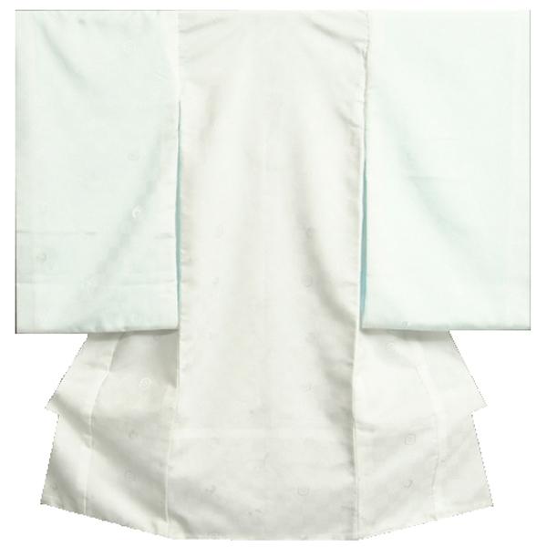お宮参り 長襦袢 着物 小物 新作入荷 SEAL限定商品 単品 お宮参り着物用長襦袢 ポリエステル 地紋生地 白 袷仕立て つけ袖付き 日本製