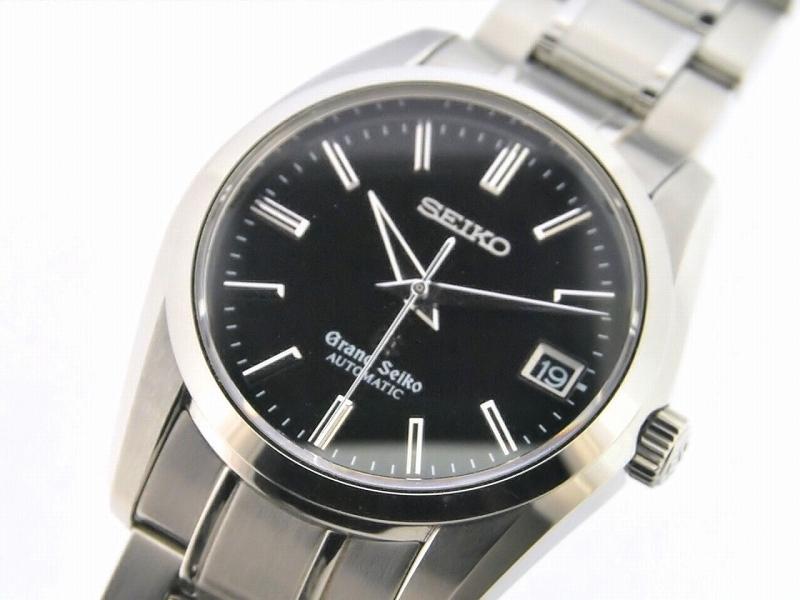 精工盛大精工 SBGR023 9S55-0010 黑色表盘自动缠绕手表