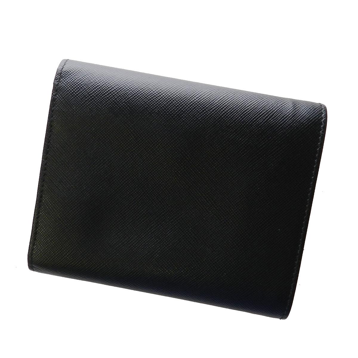 PRADA calf wallet 2 fold wallet (purse and) calf unisex
