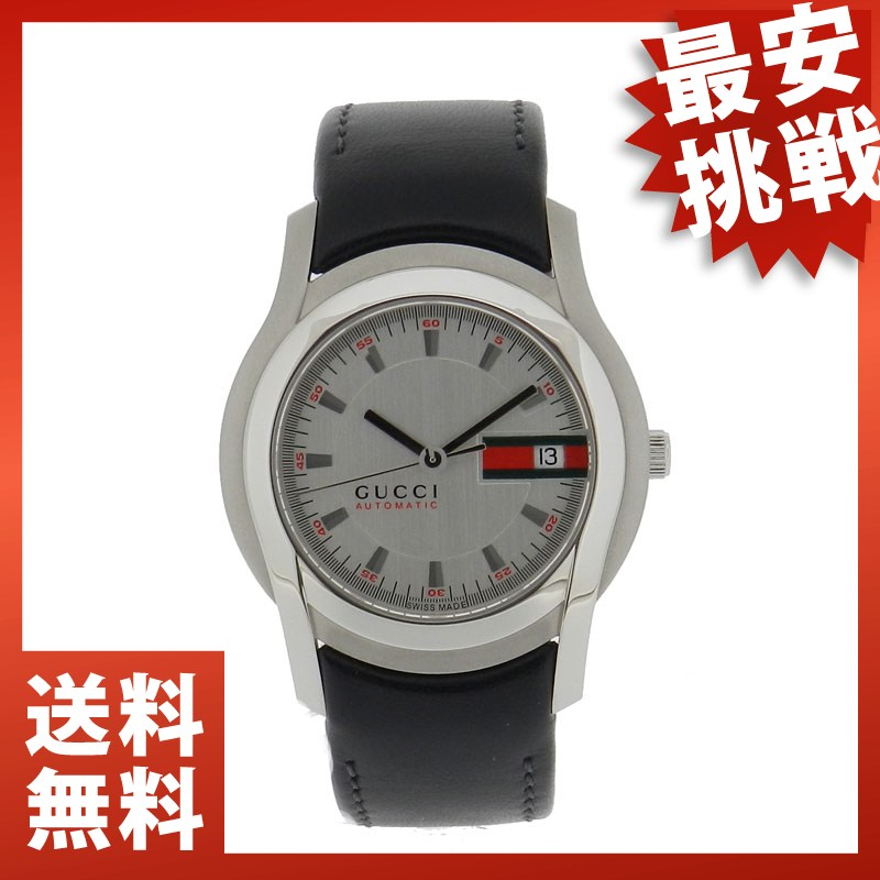 GUCCI5500 watch SS / leather men's
