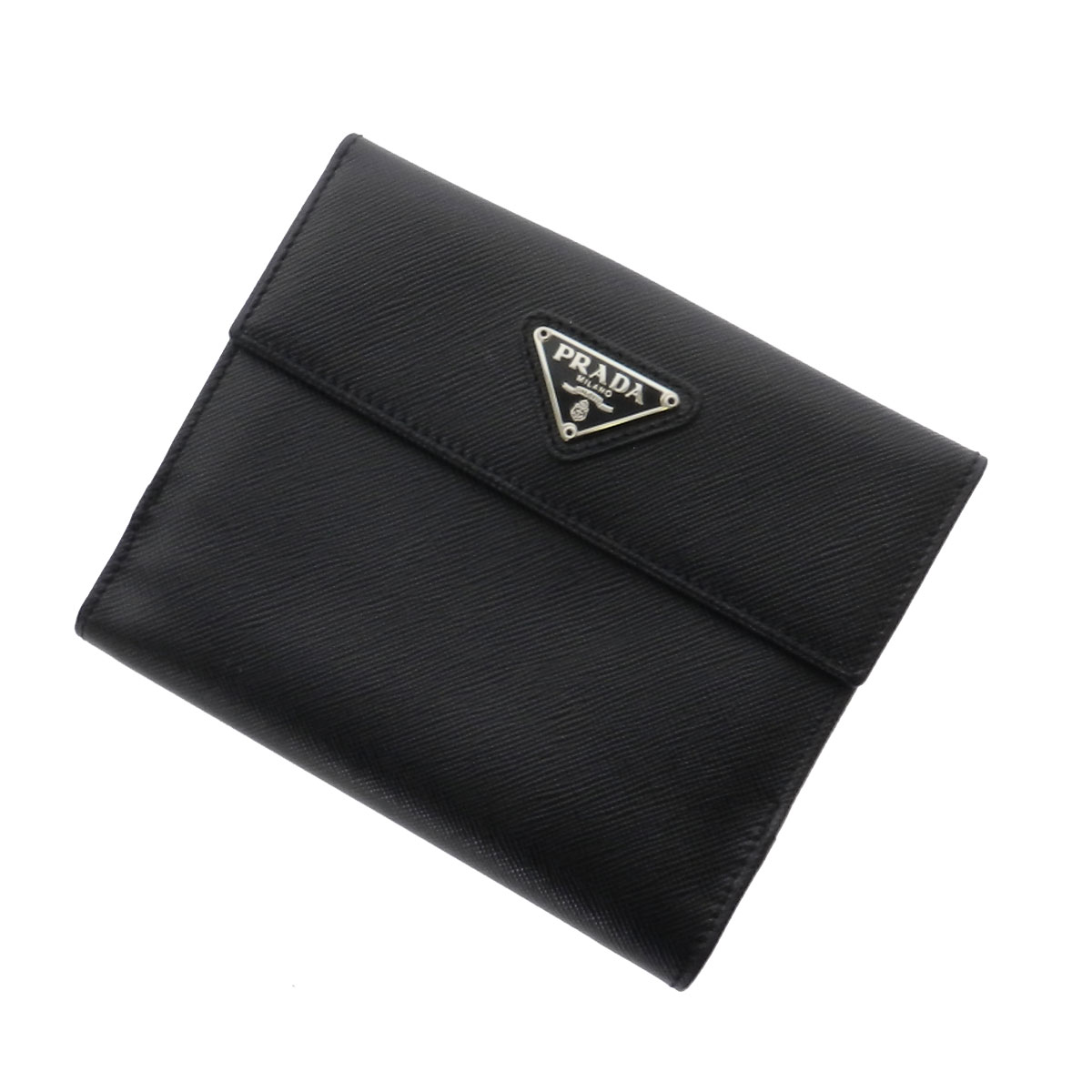PRADA slim two fold wallets (purses and) calf Womens