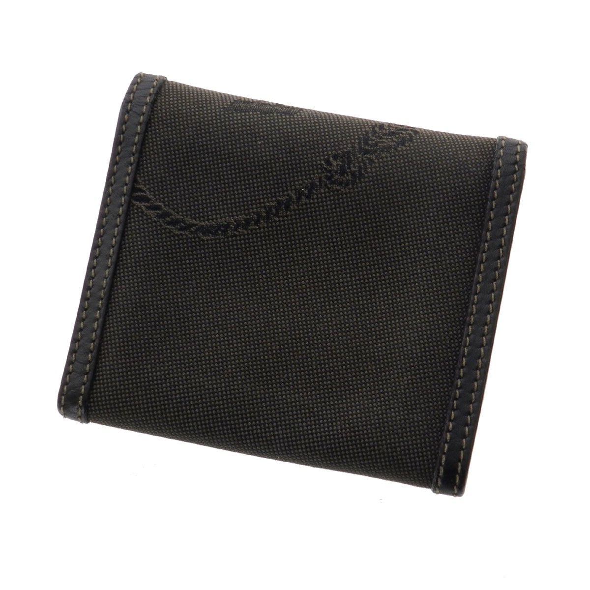 PRADA three fold fold wallet two purses (purses and) canvas x leather unisex