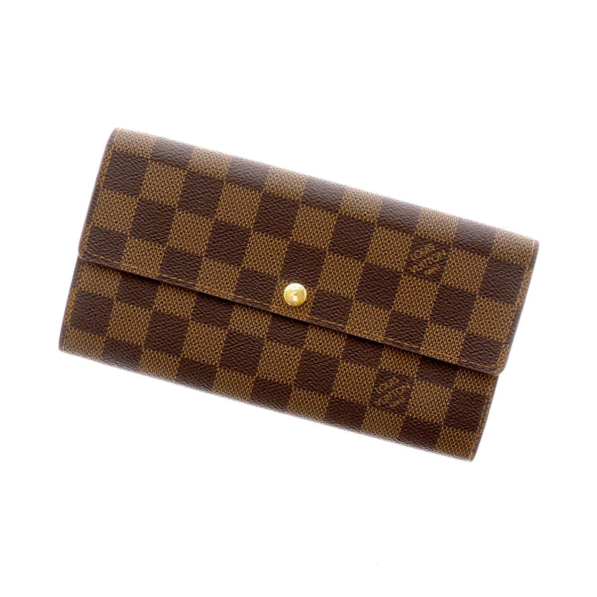 LOUIS VUITTON Damier wallet-Sarah N61724 wallet (purse and) Damier Canvas unisex