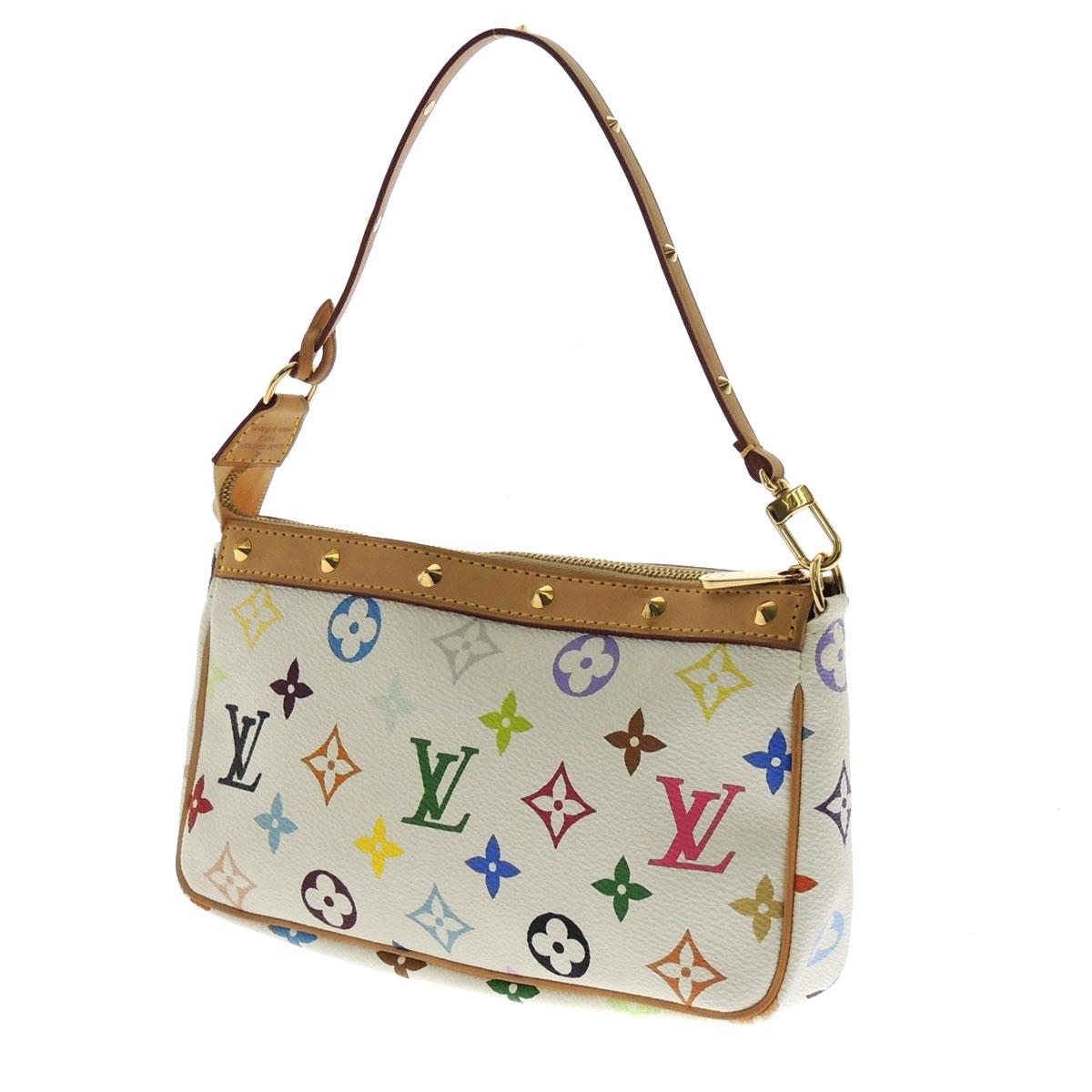 LOUIS VUITTON pochettaxesovar strap M92649 accessory pouch Monogram multi color canvas Womens