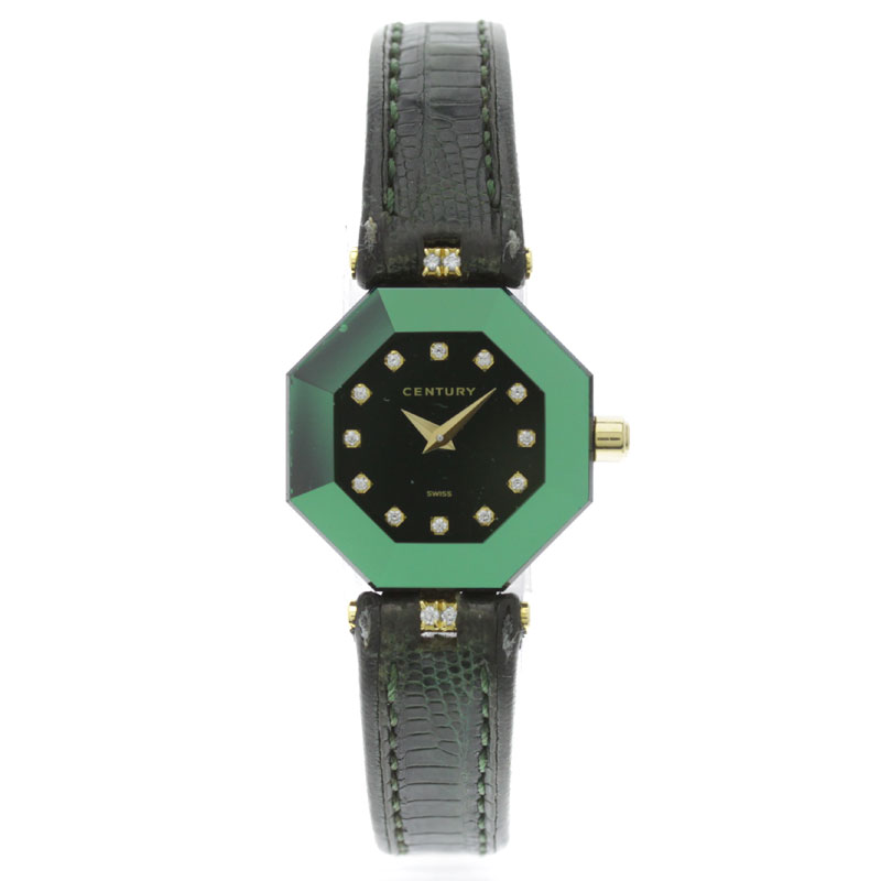 CENTURY lucky eight arms watch YG / Leather Womens