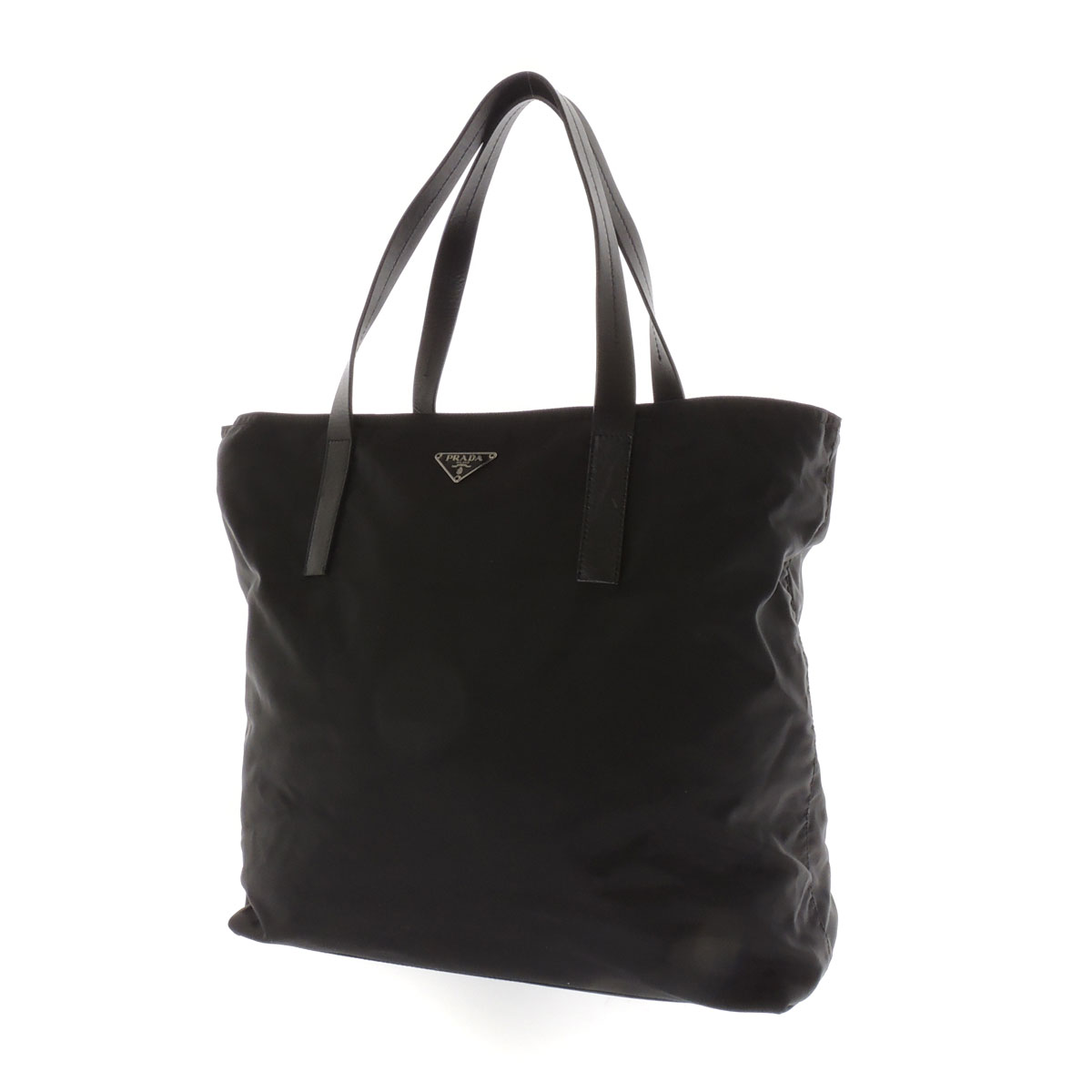 PRADA length type tote bag nylon x leather unisex fs3gm