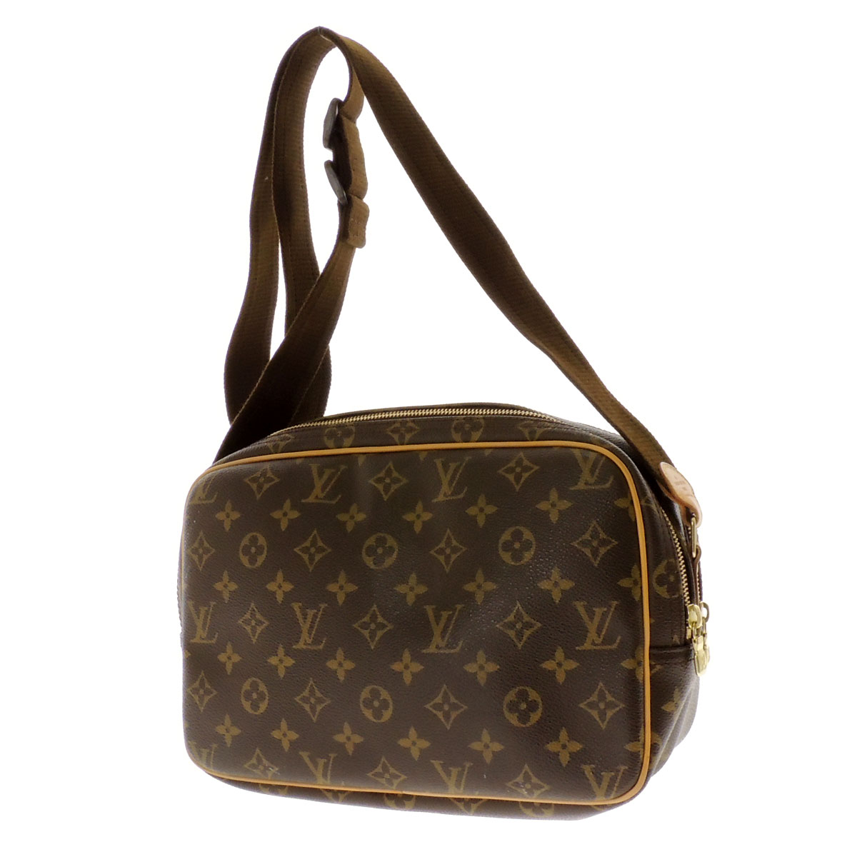 28 LOUIS VUITTON reporter M45254 shoulder bag monogram canvas Lady's fs3gm