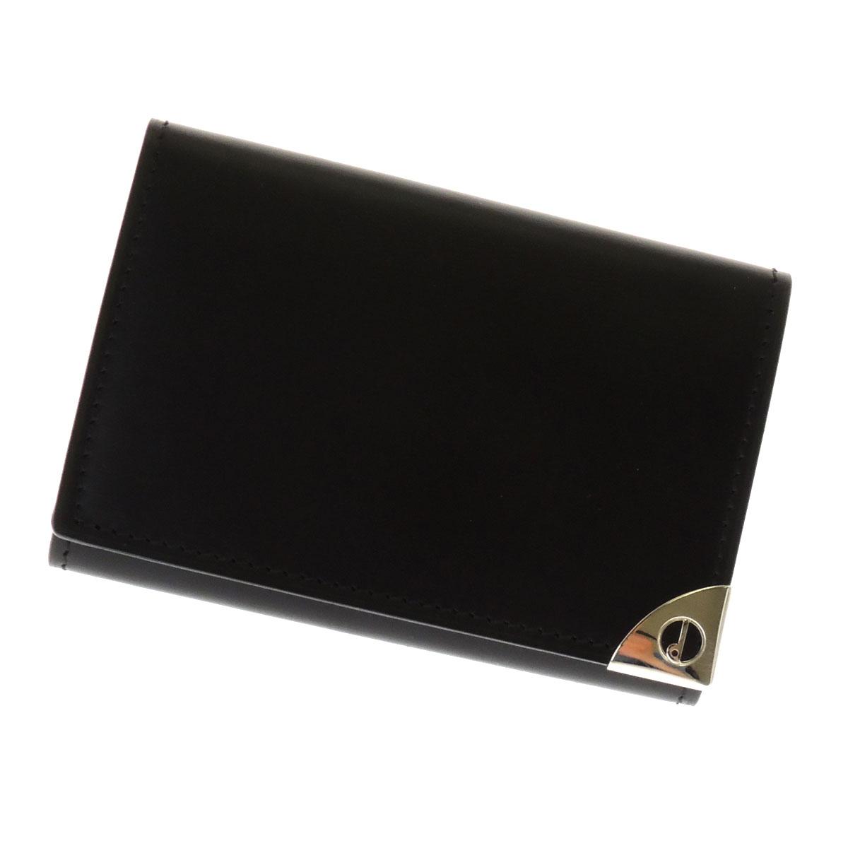 Dunhill logo key case leather men's