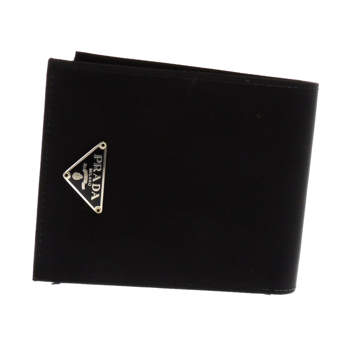 PRADA logo with two bi-fold wallets (purses and) nylon unisex