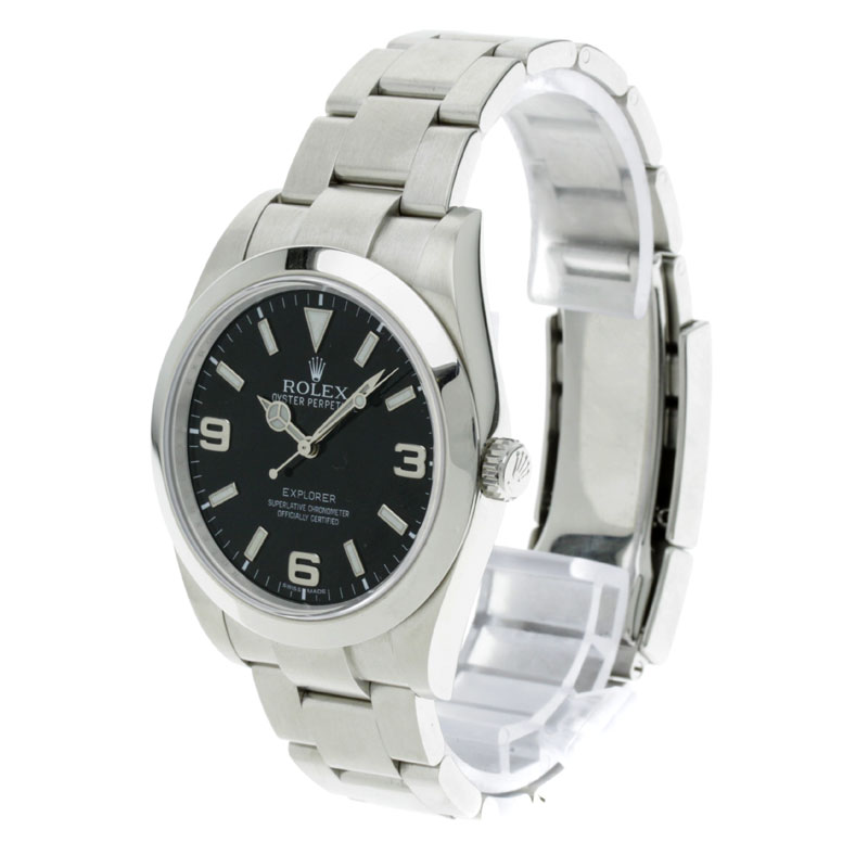 ROLEX Oyster Perpetual Explorer 1 214270 SS mens watch