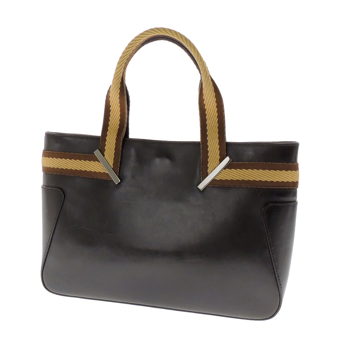GUCCI plate with a tote bag canvas / Leather Womens