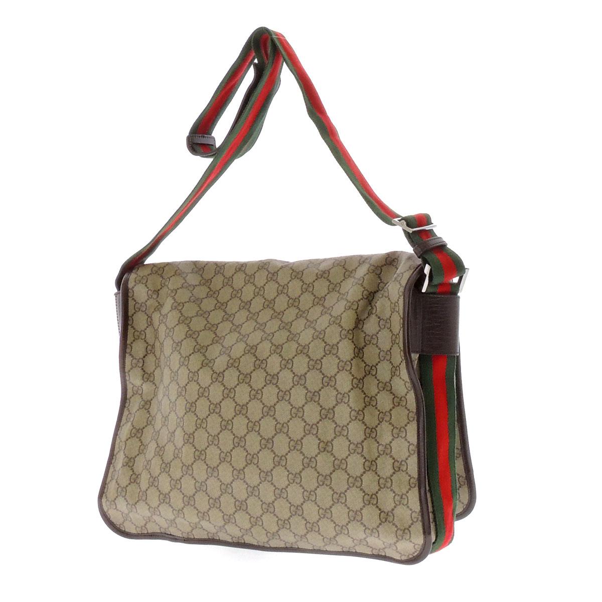 GUCCI tiny GG pattern shoulder bag PVCx leather unisex