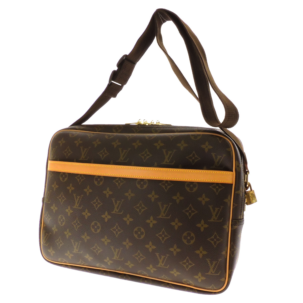 LOUIS VUITTON reporter 37 M45252 shoulder bag monogram canvas unisex